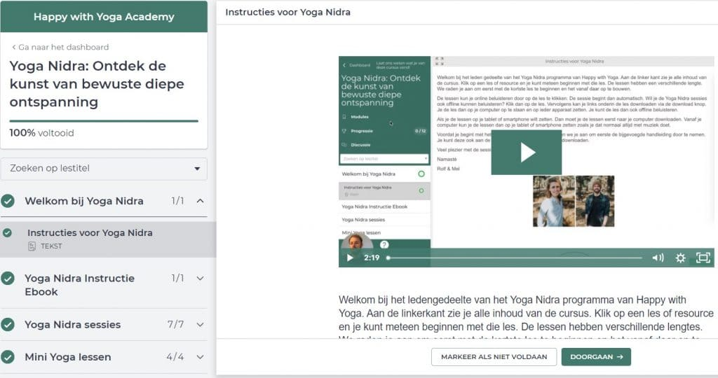 yoga nidra review de instructies van de cursus